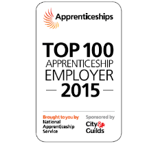 Top 100 Apprenticeship Employer 2015 Logo