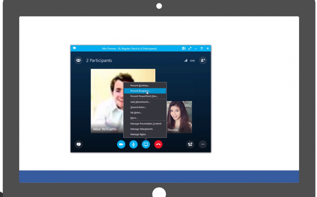 how to show your screen in skype